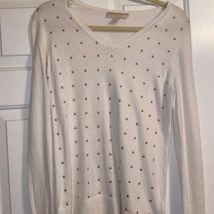 MICHAEL Michael Kors Gold Studded Sweater